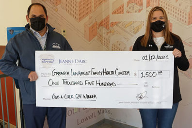 Jeanne D'Arc Credit Union Awards $1,500 to Greater Lawrence Family Health Center