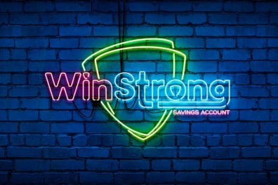 WinStrong neon sign