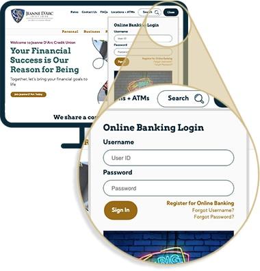 easily login to online banking
